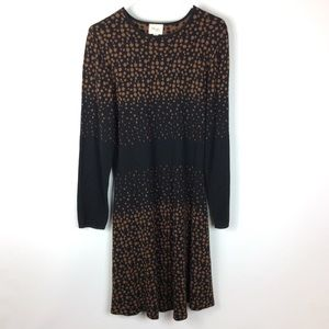 Beige by Eci Polka Dot Long Sleeve Dress Size XL